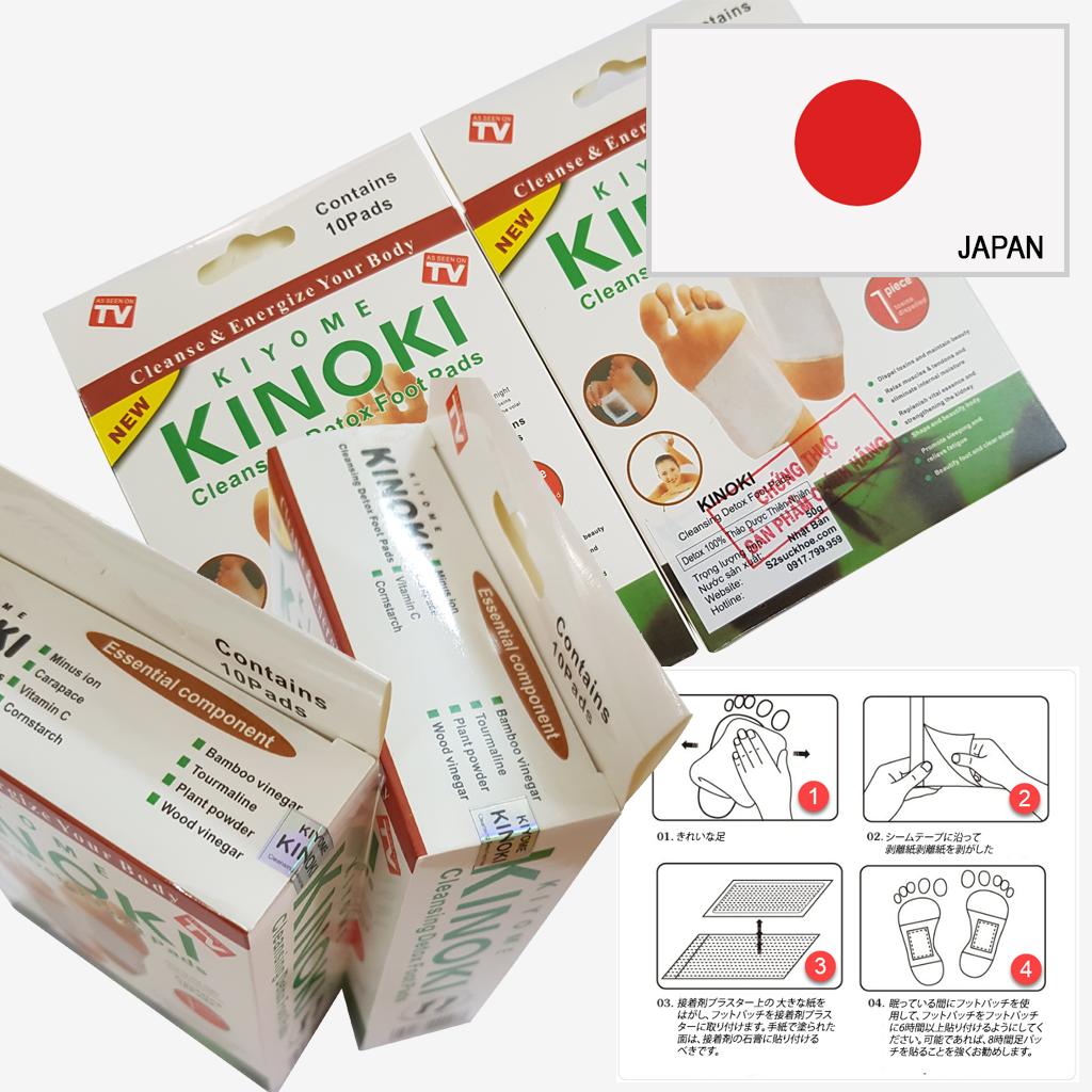Miếng dán chân Kinoki Nhật bản