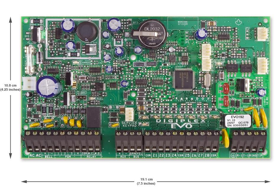 Bảng điều khiển 192 vùng có dây PARADOX EVO192