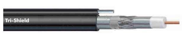Cáp đồng trục-Coaxial cable Alantek RG-11 Tri-Shield with Messenger