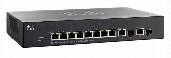 10-port Gigabit PoE Managed Switch CISCO SG300-10PP