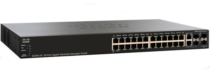 28-port Gigabit Stackable Managed Switch Cisco SG500-28-K9-G5