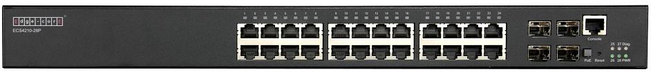 24-Port L2+ Gigabit Ethernet Access/Aggregation PoE Switch Edgecore ECS4210-28P