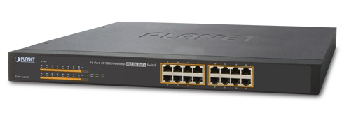 16-port 10/100/1000Mbps PoE Switch PLANET GSW-1600HP