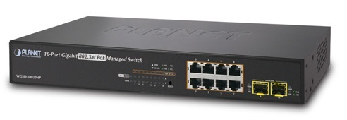 8-port 10/100/1000Mbps PoE Switch PLANET WGSD-10020HP