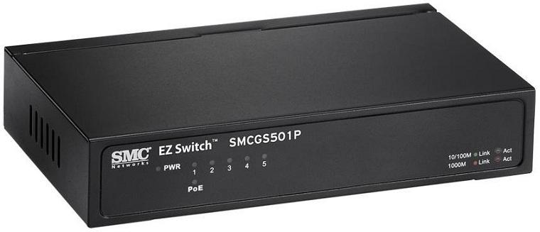 5-Port Gigabit EZ Switch SMC SMCGS501