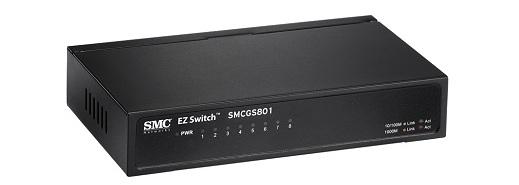 8-Port Gigabit EZ Switch SMC SMCGS801
