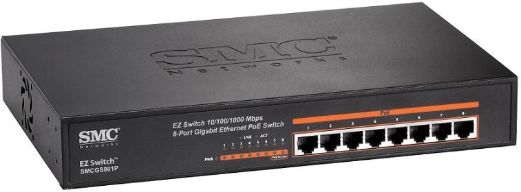 8-Port Gigabit EZ Switch PoE SMC SMCGS801P