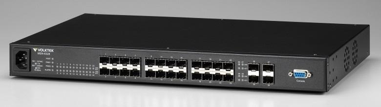 24 SFP slot 10/100Base-FX+4 SFP slot Gigabit Managed Switch VolkTek MEN-6328D