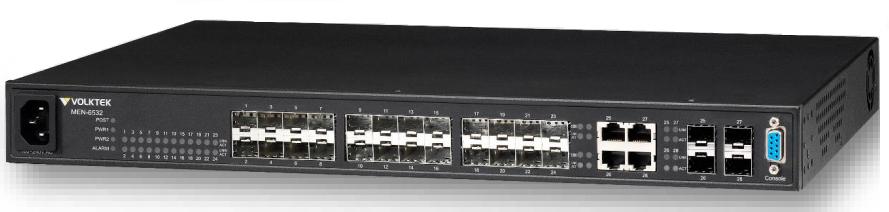 24 SFP slot 10/100Base-FX+4 SFP slot Gigabit Managed Switch VolkTek MEN-6532D