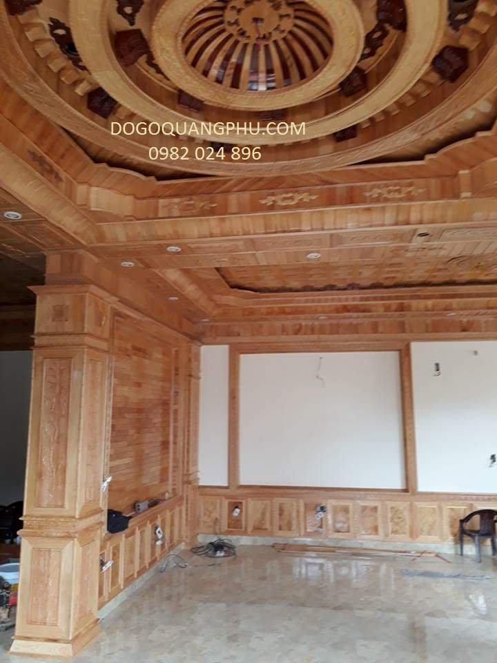Giá trần gỗ đẹp cho phòng khách phòng bếp phòng ngủ