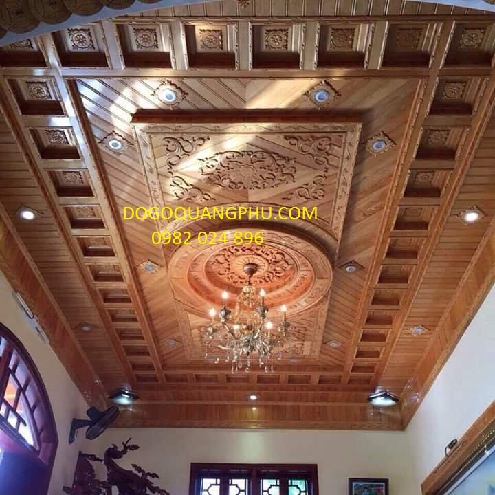 Địa chỉ làm trần gỗ đỏ chất lượng giá thành hợp lý.