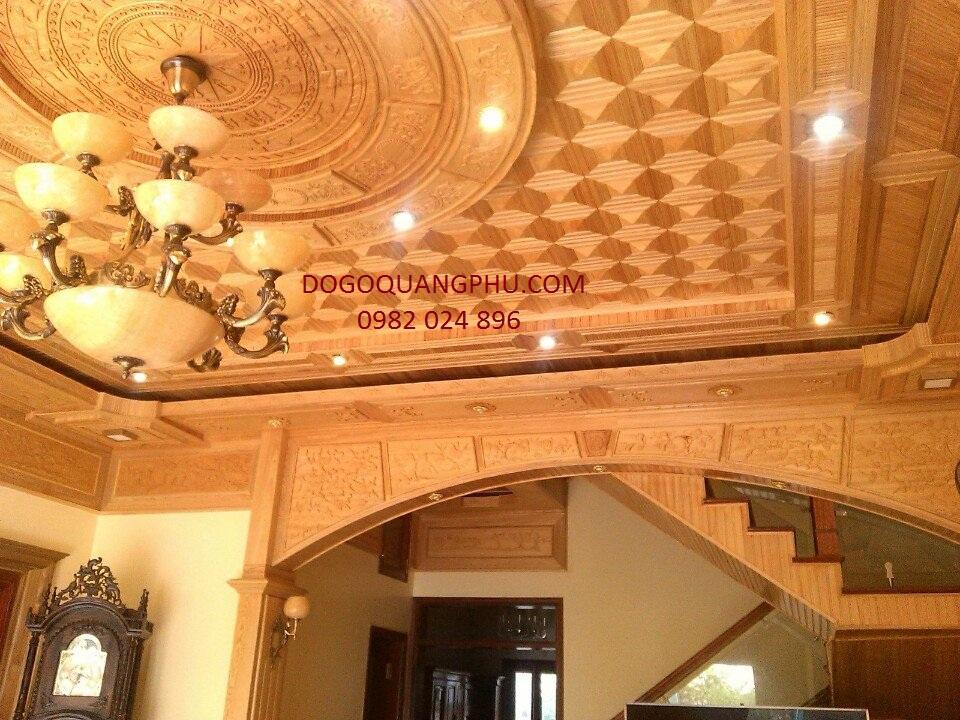 Giá́ trần gỗ xoan bao nhiêu