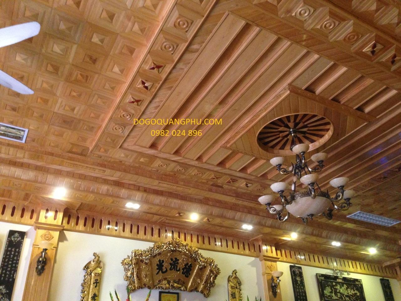 mẫu trần gỗ đơn giản tại công ty TNHH đồ gỗ Quang Phú