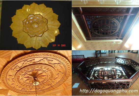 Trần gỗ pơ mu đẹp đón đầu phong cách sang trọng-hiện đại