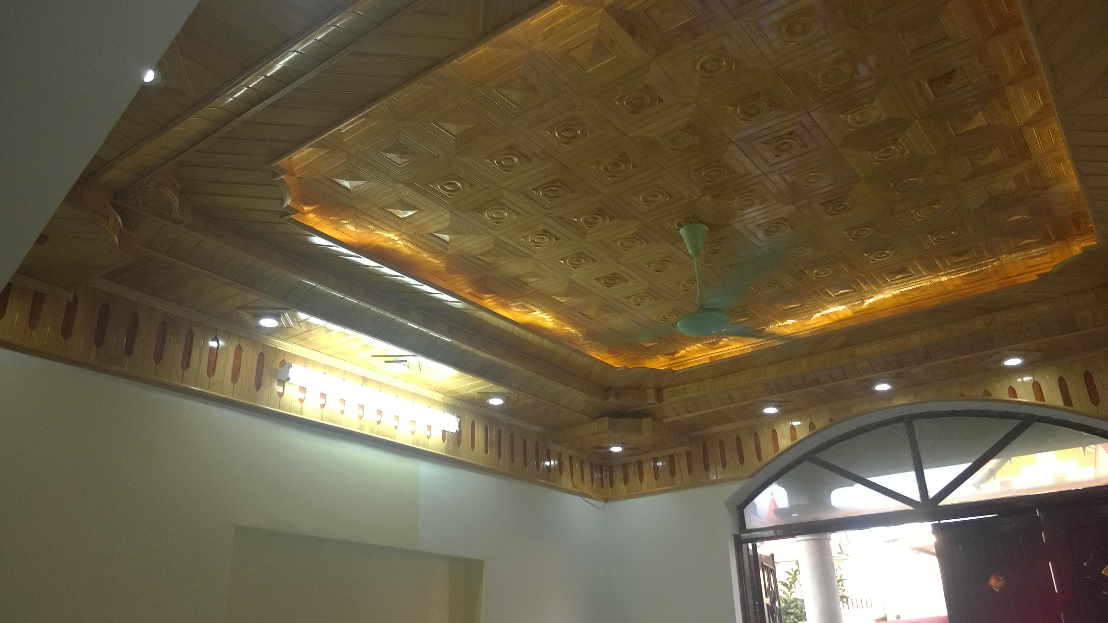 Các mẫu trần nhà bằng gỗ đẹp 2018
