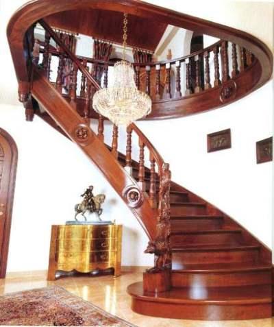 Mặt bậc cầu thang, tay vịn con tiện gỗ lim Nam Phi
