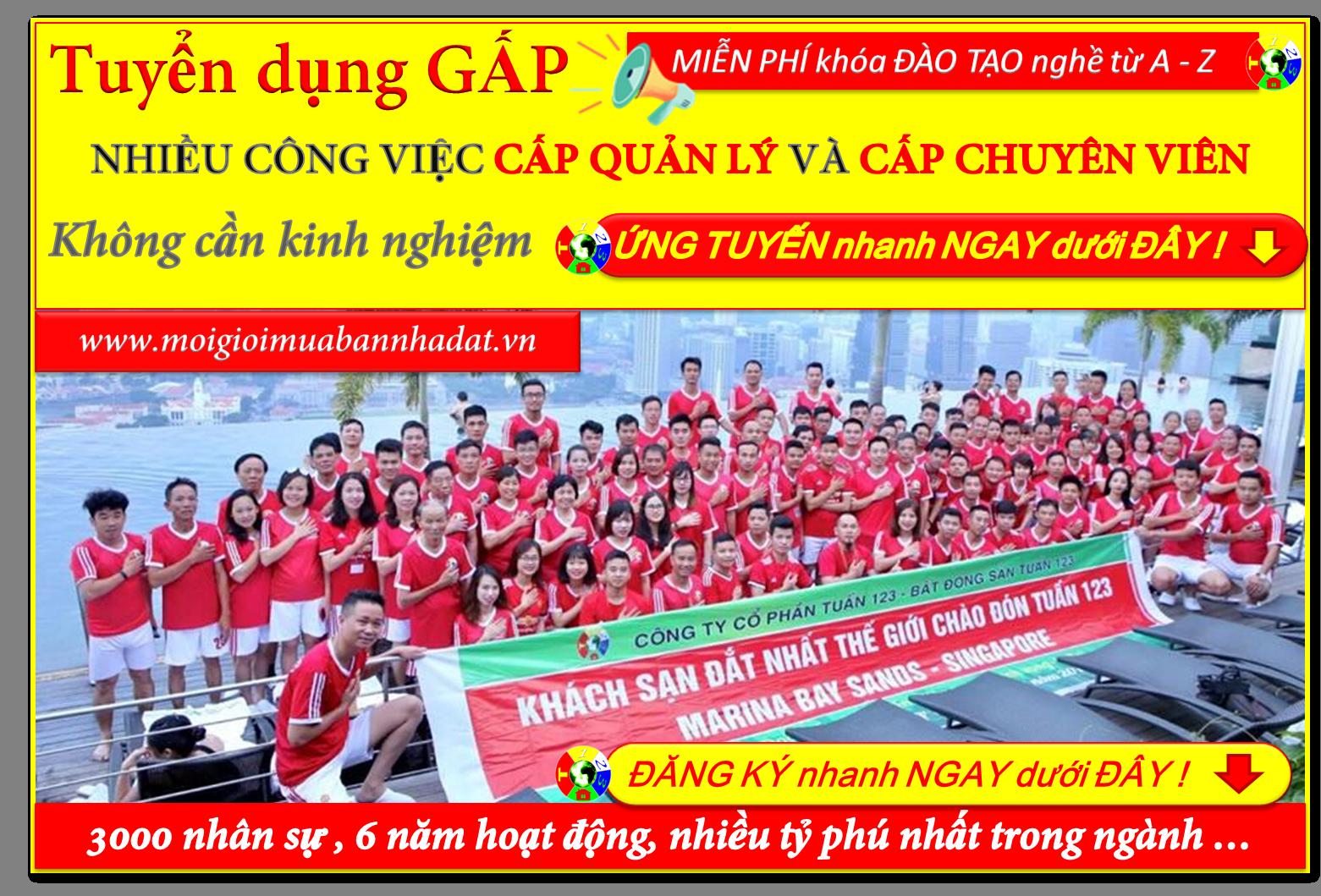 Công ty Bất động sản Tuấn 123 tuyển dụng nhân viên kinh doanh Bất động sản Thổ cư tại Hồ Chí Minh