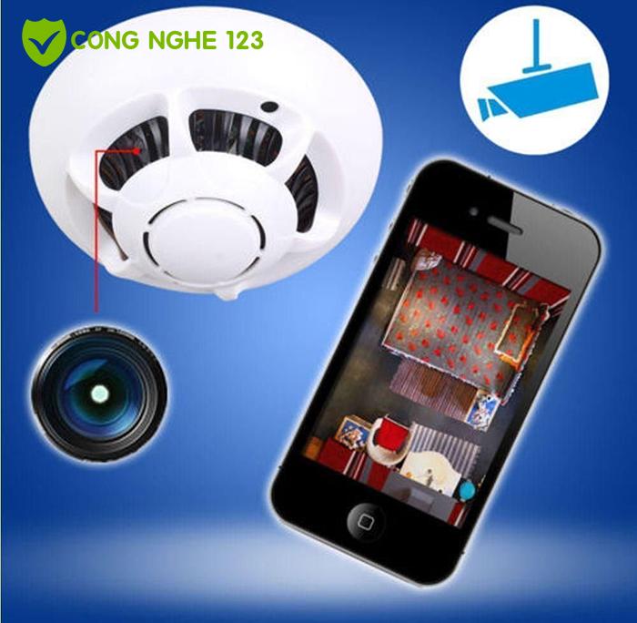 Camera IP wifi ngụy trang báo khói UFO Full HD 1080P