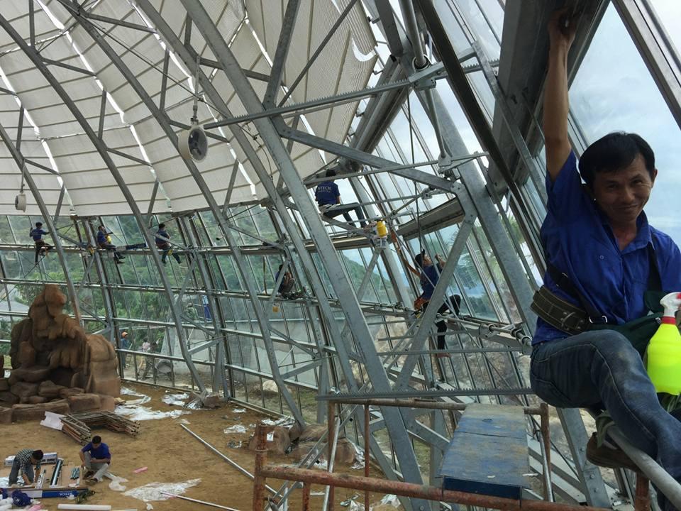 Thi công dán  phim cách nhiệt BLU 65, IR 6070, HP 25BK tại Vinpearl Nha Trang