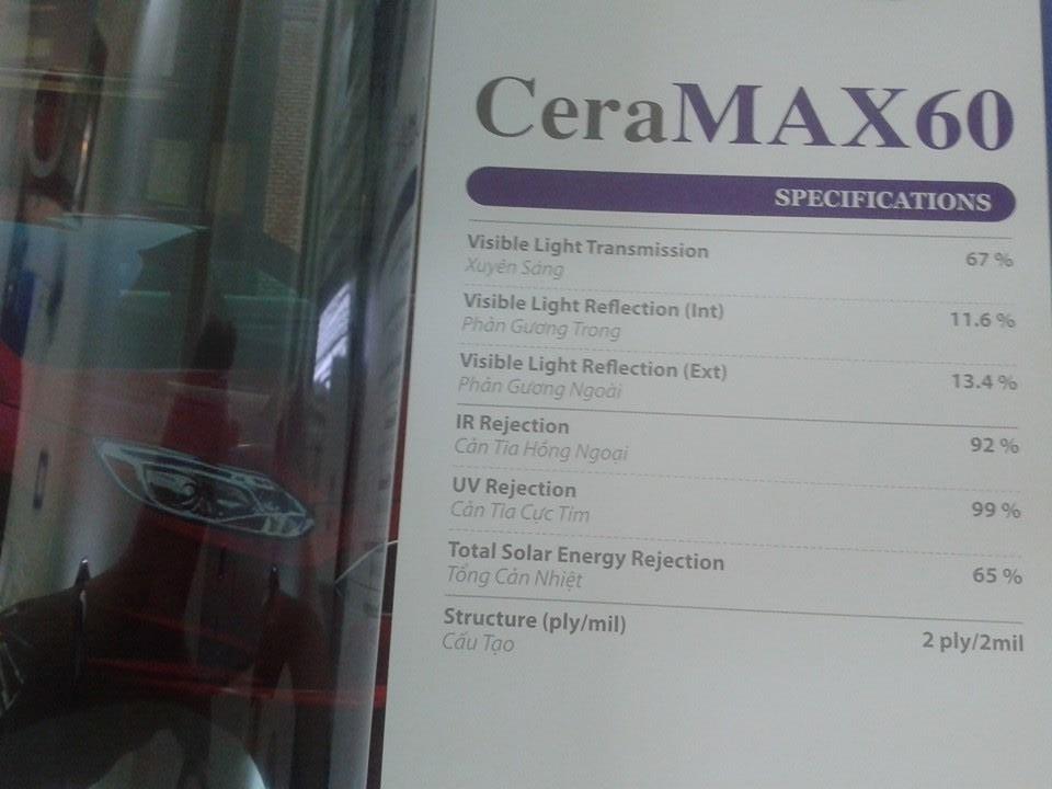 Dán phim Cera Max 60 tại Vincom Phạm Ngọc Thạch từ ngày 24.09.2016