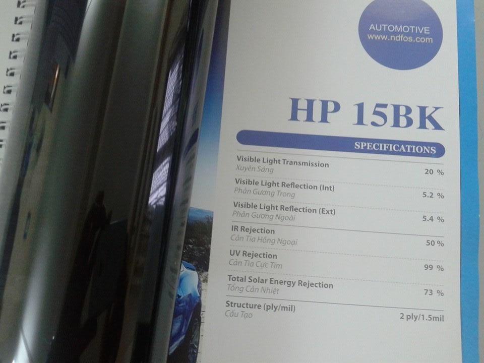 Dán phim cách nhiệt HP 15BK NTECH cho xe Ecosport tại Láng Hạ