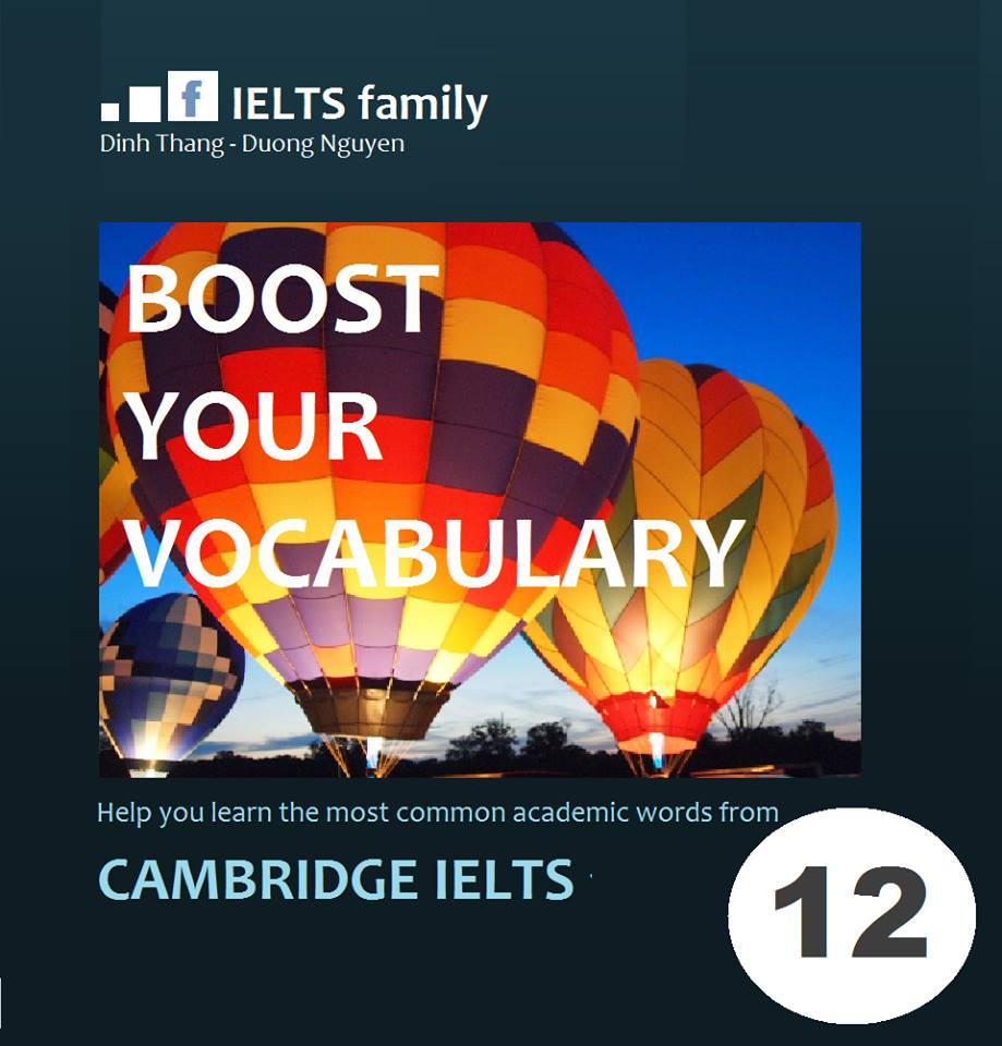 Quyển Boost your vocabulary cho Cambridge IELTS 11 + 12