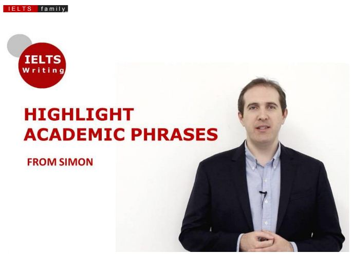 HIGHLIGHT ACADEMIC PHRASES FROM SIMON