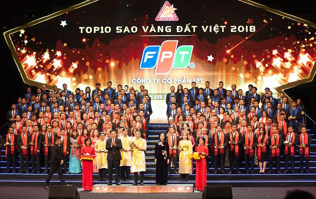 FPT lần thứ 6 liên tiếp đạt Top 10 Sao Vàng đất Việt