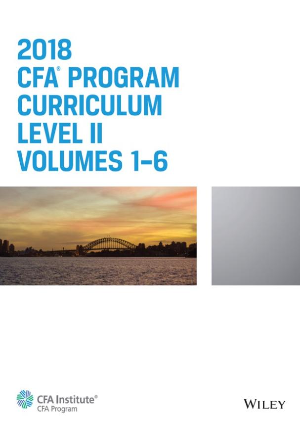 2018 - Sách CFA Curriculum Level 2 Gáy Xoắn