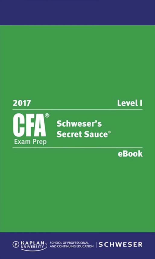2017 - Sách CFA Level 1 Secret Sauce gáy xoắn