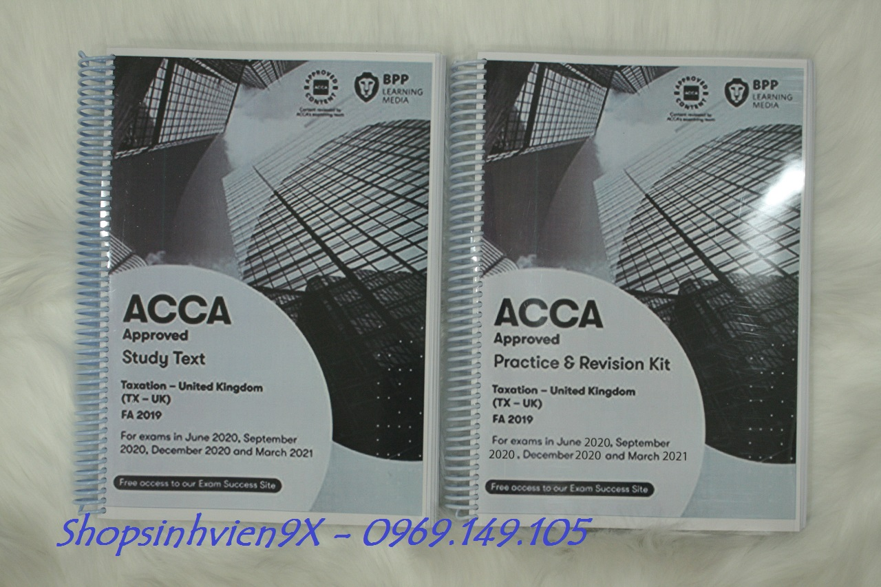 Sách ACCA F6 2021 (Study Text - Revision Kit) - (TX - UK) Taxation
