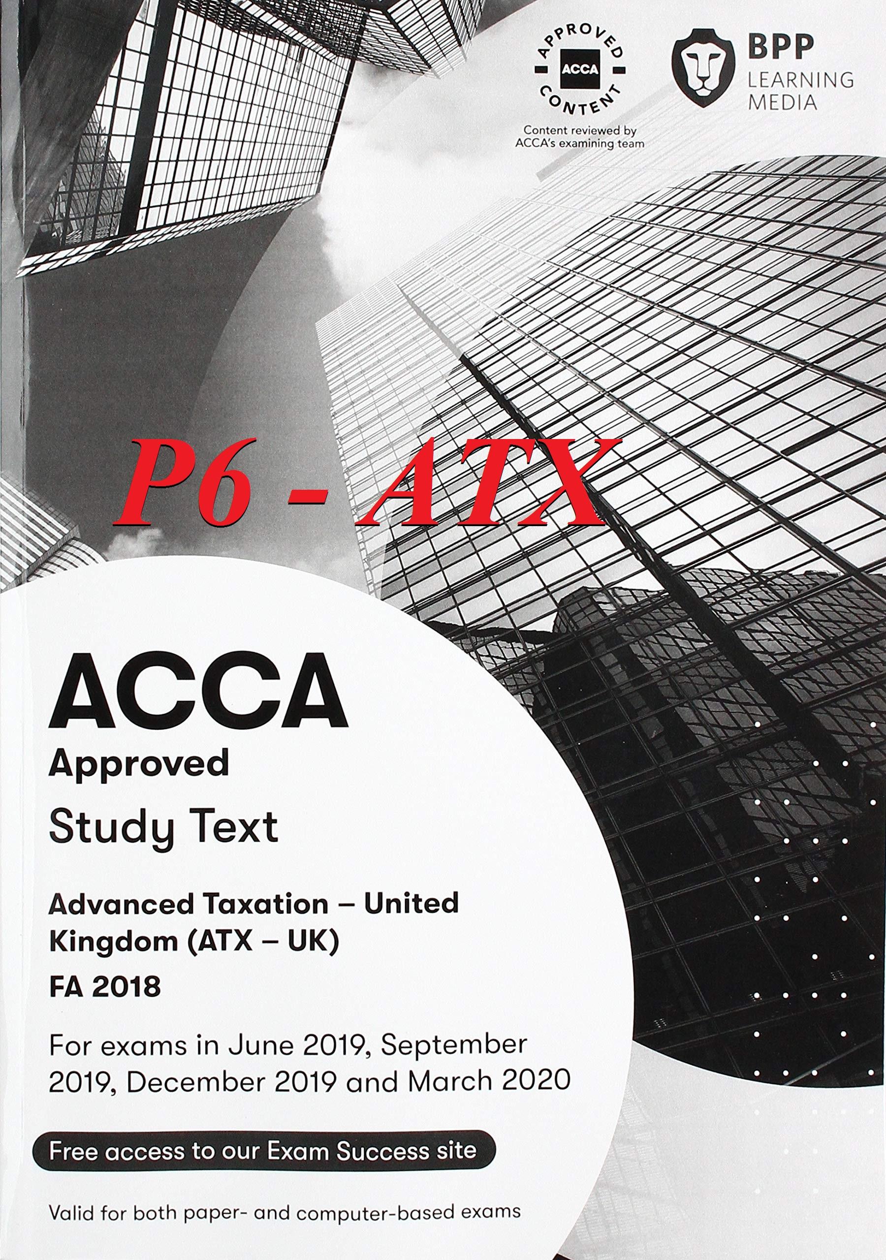Tài Liệu ACCA P6 2020 (ATX) Advanced Taxation
