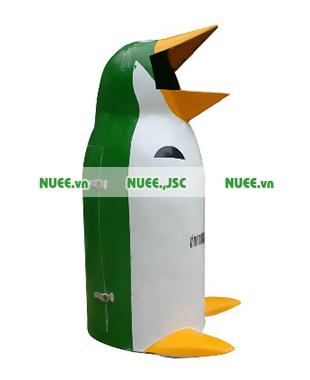 Thùng rác công cộng 70L chim cánh cụt