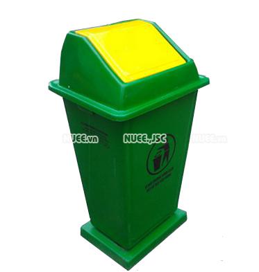 Thùng rác công cộng 110L  có đế