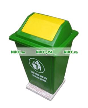 Thùng rác công cộng 60L nắp lật