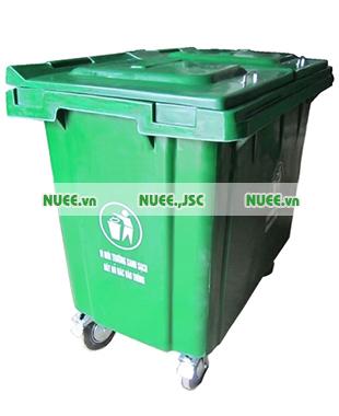 Thùng rác công nghiệp 660L bánh xe