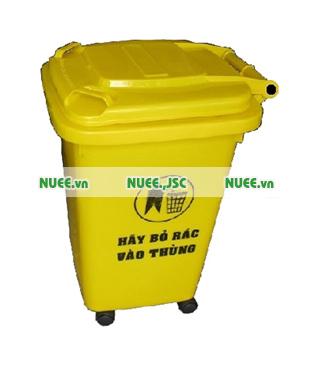 Thùng rác y tế 60L bánh xe