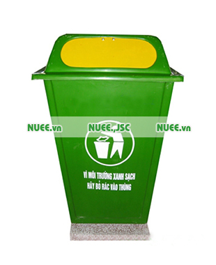 Thùng rác công cộng 60L nắp đẩy