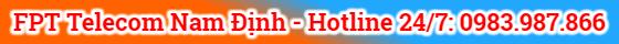 hotline lắp mạng fpt tại nam định