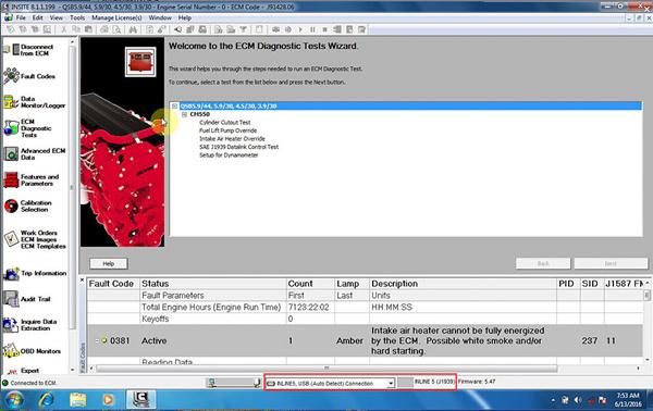 CUMMINS INSITE 8.1.1.199  Pro level