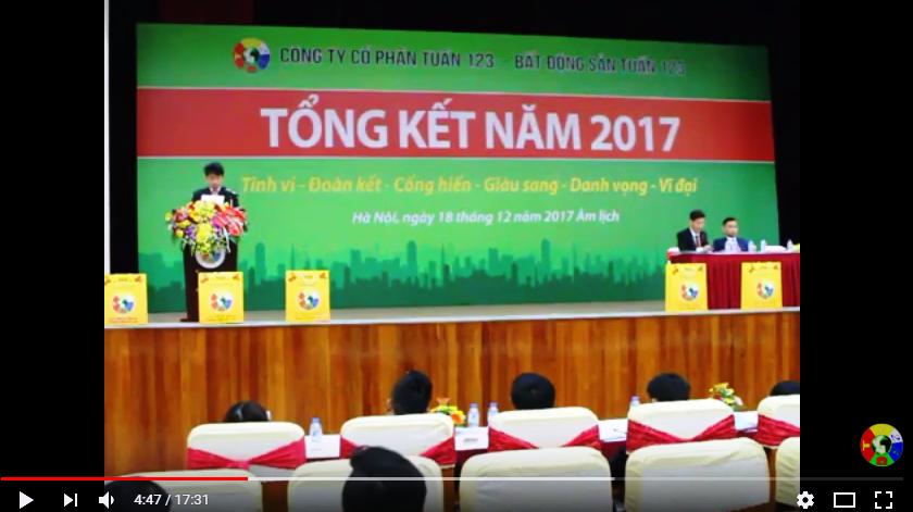 Đáng đọc: Bài phát biểu của Tổng Giám đốc - Thủ lĩnh TUẤN 123 Tổng kết năm 2017 - Tuấn 123