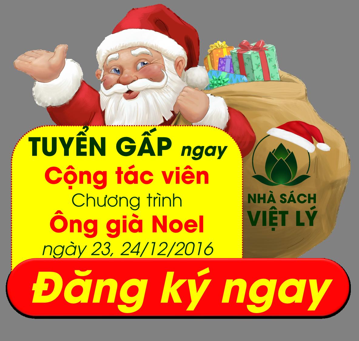 GẤP: Tuyển Cộng tác Viên chương trình Ông già Noel Nhà sách Việt Lý