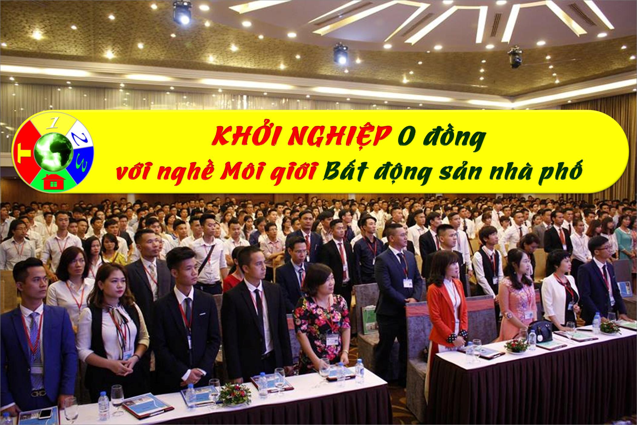 Khởi nghiệp 0 đồng - Khóa Đào tạo miễn phí nghề Môi giới Bất động sản tại Công ty lớn nhất Việt Nam chuyên về Bất động sản nhà phố gần 3000 nhân sự