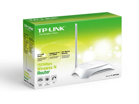 TL-WR720N Router chuẩn N không dây tốc độ 150Mbps