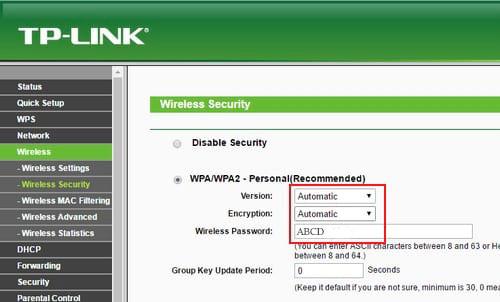 hướng dẫn thay đổi mật khâu wifi tp link