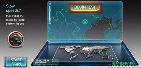 kiểm tra tốc độ mạng bằng máy tính