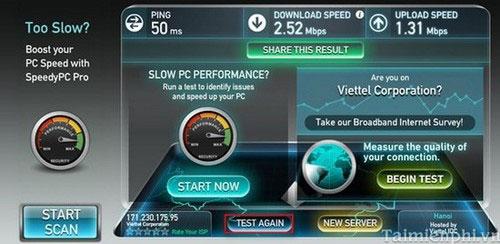 Cách kiểm tra tốc độ mạng internet Viettel , FPT , VNPT trên máy tính và điện thoại