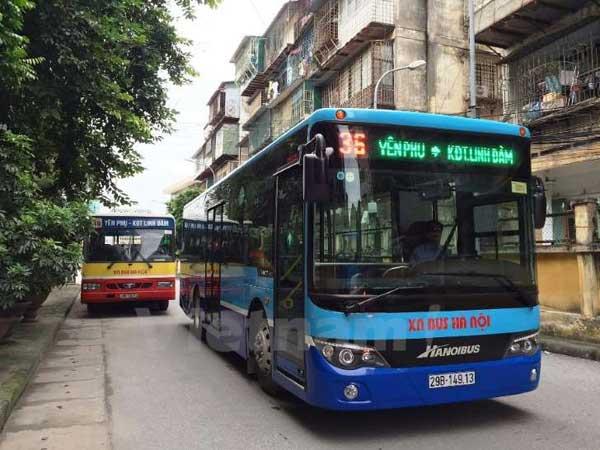 xe bus có wifi mới của transerco đi vào hoạt động tại Hà Nội