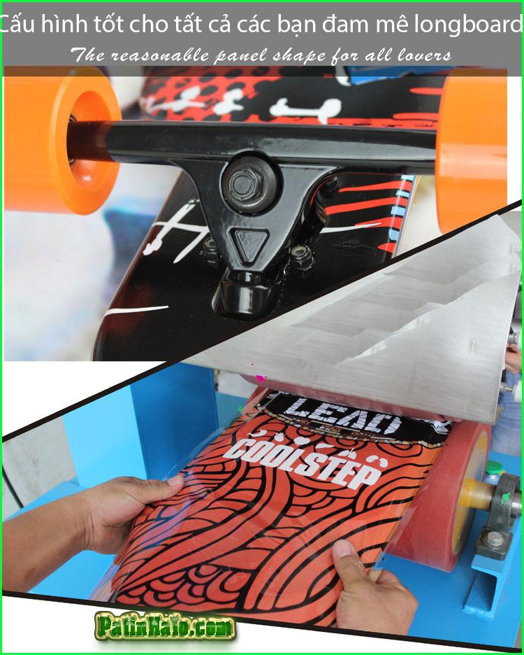 van truot longboard, longboard coolstep 13
