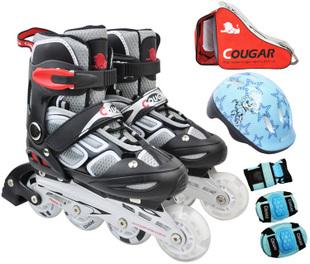 giầy trượt patin caugar flash màu đen